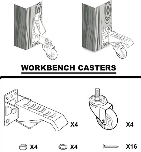 [New Version] ProCaster Workbench Caster Kit | Pack of 4 | Durable Heavy Duty Steel and Wheels | Move up to 420 lbs Easily | High Quality Material by ProCaster (Image #6)