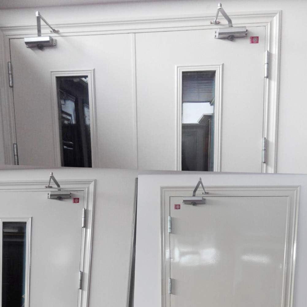 Cierrapuertas de aluminio, Cierre de puerta ajustable cierre de hidráulico automático para comercial/residencial puerta de cierre comercial, Tipo cuadrado: Amazon.es: Bricolaje y herramientas