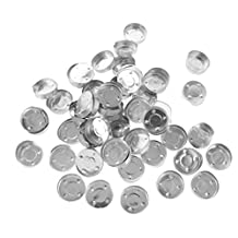 Dovewill 100 Pieces Aluminium Tea Light Empty Case Containers for Tealight Candles Making 1#