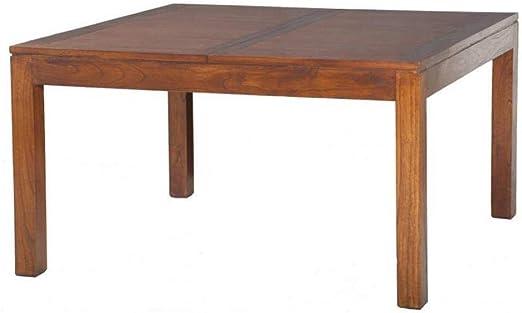 Mesa Comedor Extensible Lauren 140 x 140 cm en Mindi: Amazon.es: Hogar