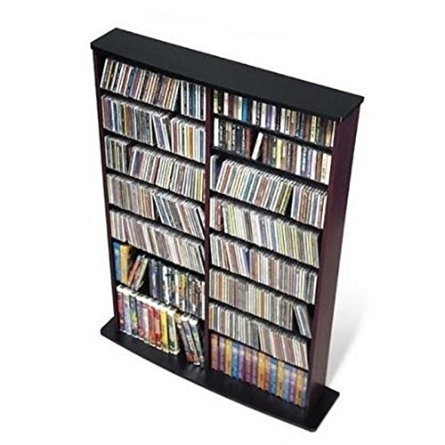 Bowery Hill 51'' Double CD DVD Wall Media Storage Rack in Black