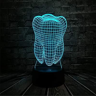wangZJ 3d Tooth Led/Usb Night Light Colorful/Lámpara de mesa ...