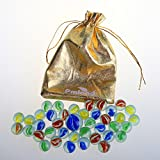 40 Pieces Cats Eyes Glass Marbles Sling Shot Ammo