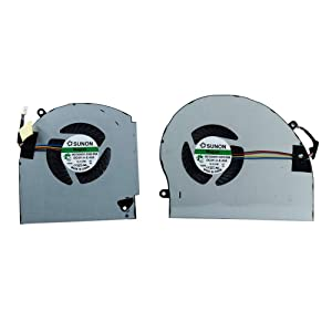 CPU + GPU Cooling Fan Replacement for Dell Alienware 17 R4 R5 Series Laptop P31E ALW17C 0K2PKV 04RFW1 MG75090V1-C060-S9A MG75090V1-C070-S9A