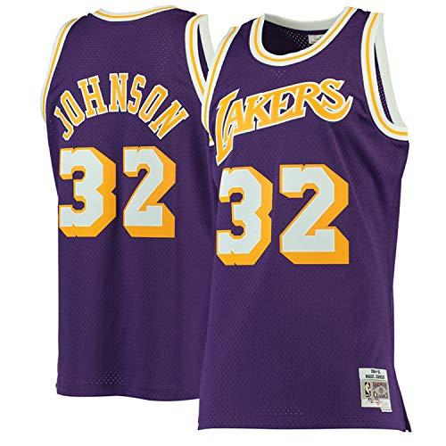 11a317b09 Men's Magic_Johnson_Los Angeles_Lakers-#32_Purple 1984-85 Hardwood Classics  Swingman Jersey (XL)