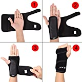 EXski Wrist Hand Splint Brace Support for Carpal Tunnel Syndrome Sprains Wrist Stabilizer Pain Injuries Relieve Left Hand One Piece