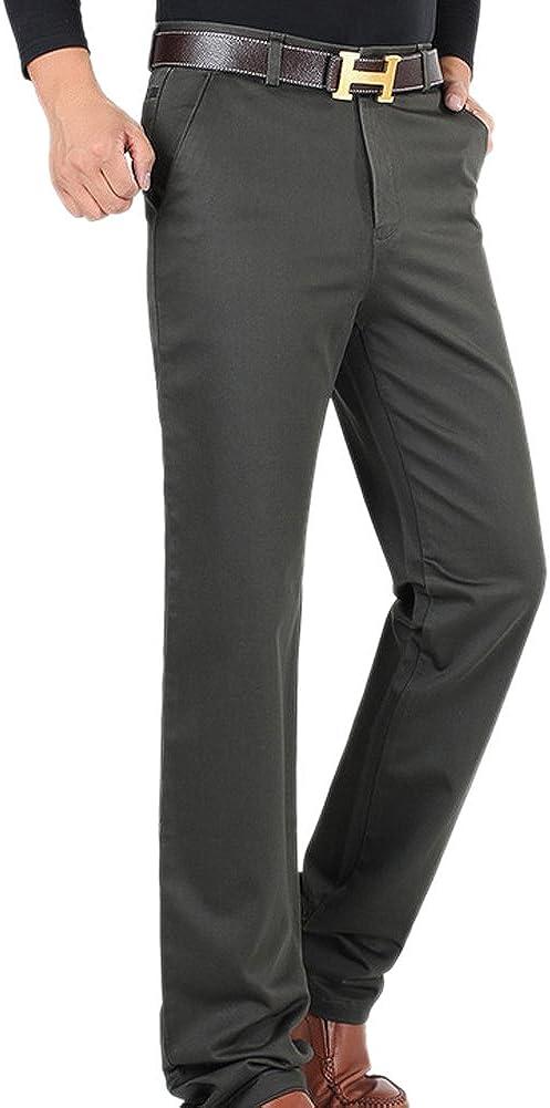 SK Studio Mens Straight Leg Loose Fit Casual Dress Pants