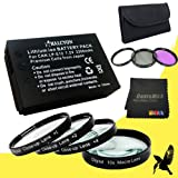 58mm Macro Close Up Kit + Wide Angle + 2x Telephoto Lenses + 3 Piece Filter Kit for Canon EOS Rebel SL1 with Canon 18-55mm STM Lens + Halcyon LP-E12 Battery for Canon EOS Rebel SL1 Starter Bundle