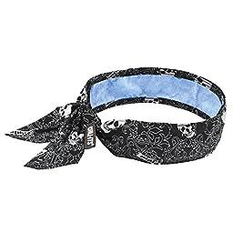 Ergodyne Chill-Its 6700CT Evaporative Cooling Bandana - Tie Closure, Skulls