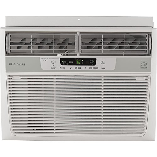 - Frigidaire 12,000 BTU 115V Window-Mounted Compact Air Conditioner with Temperature Sensing Remote Control