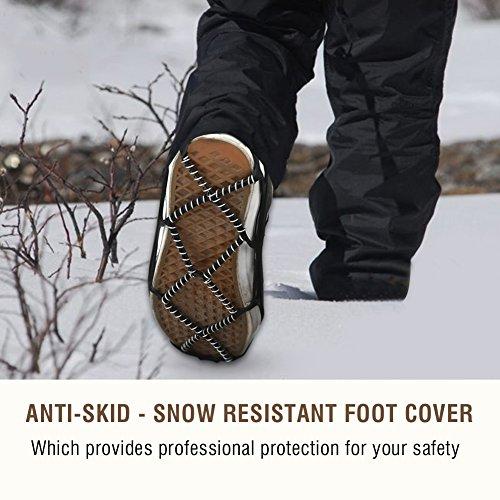 Neve Di Da Outdoor Ghiaccio Alpinismo Spikes skid Anti Dioche Grips Impugnature Tracce Calzature 6EwPqx7B