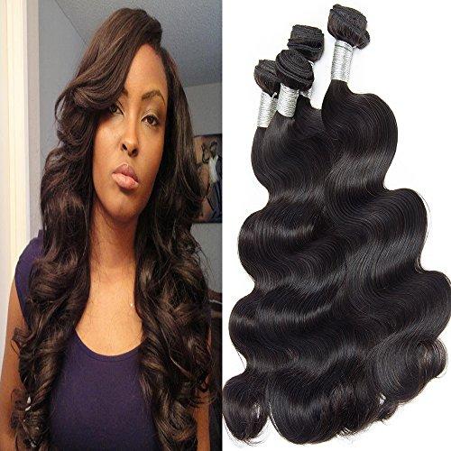 Lemoda Hair Cheap 4 Bundles Big Discounts 18 18 18 18 Inch Malaysian Body Wave Virgin Hair Weave Unprocessed Human Hair Extensions Natural Color Can Be Dyed and Bleached Tangle Free
