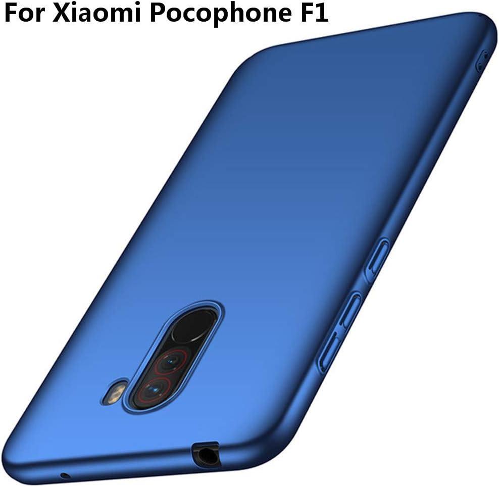 XunEda Funda Xiaomi Pocophone F1,Xiaomi Poco F1 6.18 Ultra-Delgada Antideslizante Mate Acabado PC Funda Protectora Dura Carcasa para Xiaomi Pocophone F1,Xiaomi Poco F1 Smartphone(Azul): Amazon.es: Electrónica