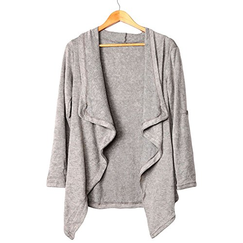 SEBOWEL Women's Asymmetric Hem Split Wrap Sweater Poncho Coat