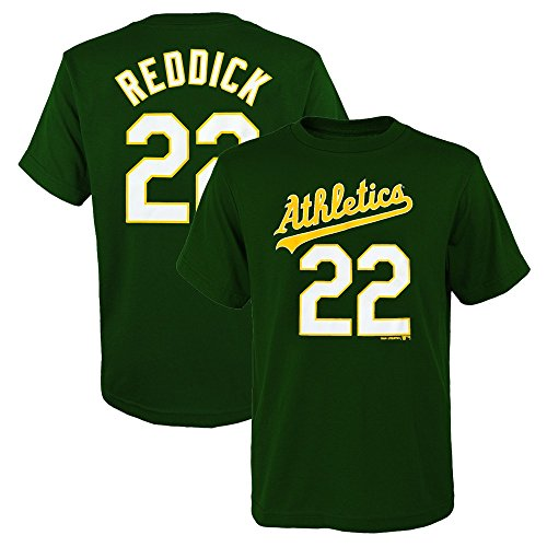 Outerstuff Josh Reddick MLB Oakland Athletics Player Home Jersey T-Shirt Boys Youth XS-2XL