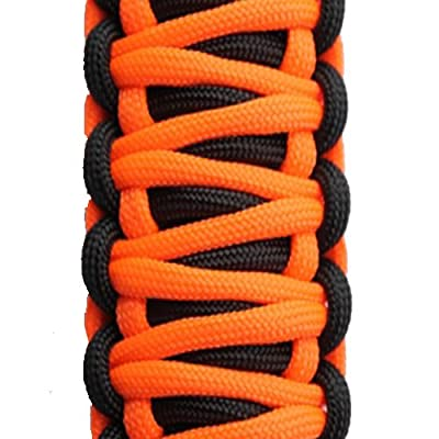 Bartact TAOGHUPBN - Universal Paracord Grab Handle (Pair) - Black/NEON Orange: Automotive