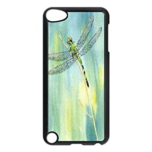Green Dragonfly Giclee Print from a Watercolor Ipod Touch 5 Cases, Stevebrown5v {Black}