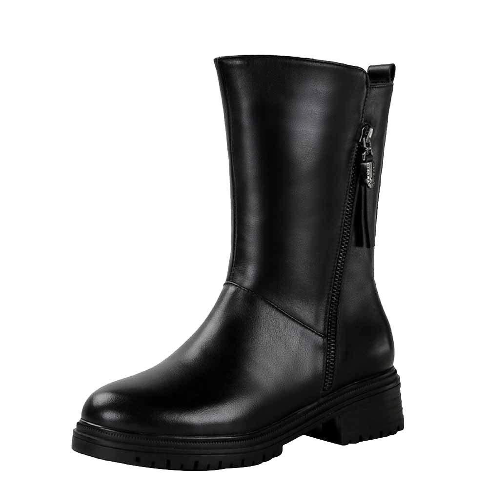 Damen Komfortable Anti-Rutsch-Martin-Stiefel Winter-Lederstiefel Dicke Und Warme Arbeitskleidung