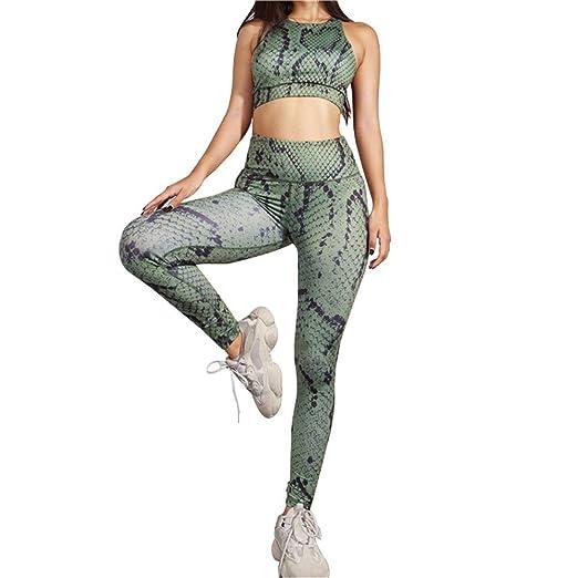 Mujeres Deporte Yoga Pantalones Ajustados Set de Yoga de ...