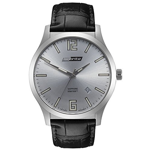 Isobrite ISO901 Grand Slimline Series Silver Dial Tritium Watch