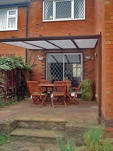 Aluminio toldo, cubierta para patio, garaje, caravana, Lean a ...