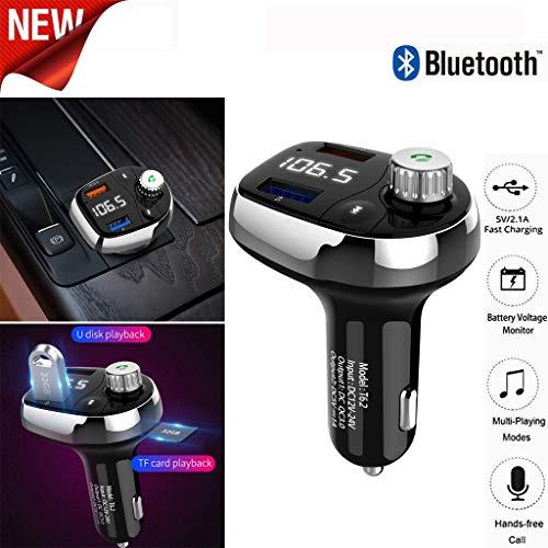 MaxFox T62 2-USB Car Fast Charger QC3.0 Wireless Bluetooth Car MP3 Player Support TF