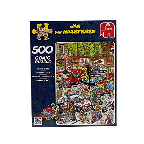Jan van Haasteren 500-Piece Scooter Scramble Jigsaw Puzzle