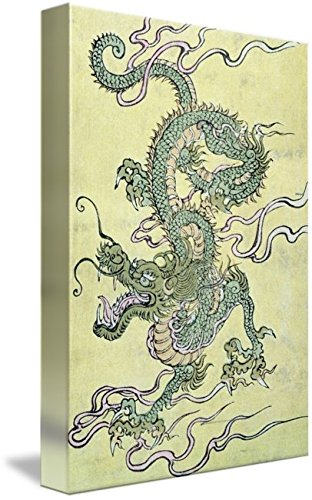 Amazon.com: Wall Art Print entitled A Chinese Dragon (Colour ...