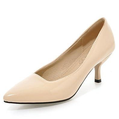 66460b2f48a Aisun Women s Simple Trendy Pointy Toe Low Cut Dress Slip On Stiletto Kitten  Heels Pumps Party