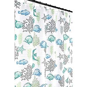 51Du%2B1wc-UL._SS300_ 200+ Beach Shower Curtains and Nautical Shower Curtains