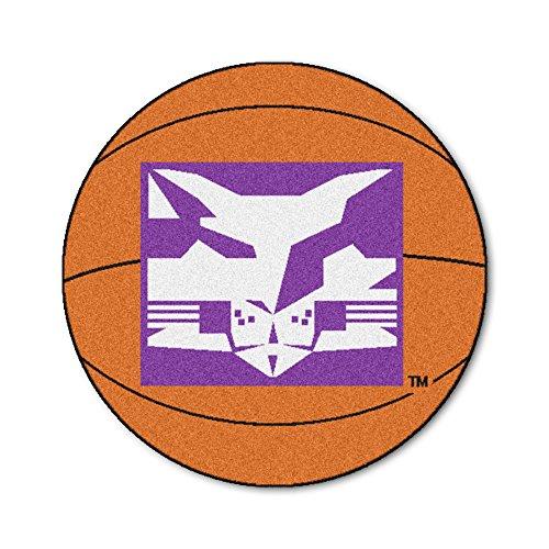 FANMATS NCAA NYU Bobcats Nylon Face Basketball Rug (Nyu Rug Basketball)