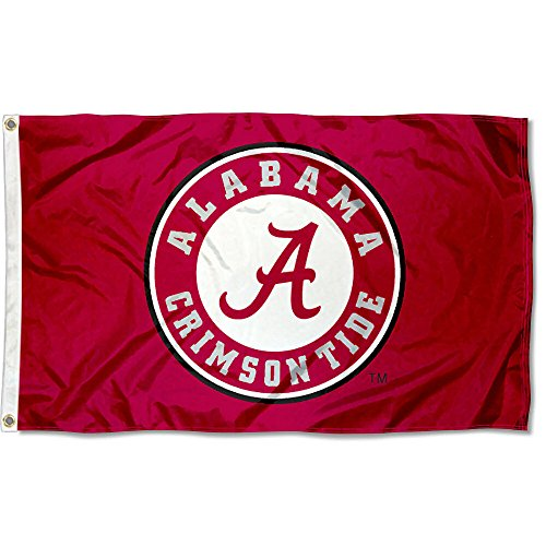 - Alabama Crimson Tide Roll Tide University Large College Flag