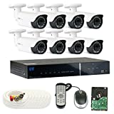 GW Security 8 Channel Tribrid DVR 2.1 Megapixel HD-TVI 1080P Security Camera System with (8) x True HD 1080P Waterproof 2.8-12mm Varifocal Zoom Bullet Security Camera