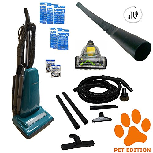 Panasonic Upright Vacuum Cleaner MC-UG383 Pet Edition Great For Homes With Dogs, Cat & Other Pets. Panasonic Top Rated Vacuum Cleaner MC-UG383PE With Micro Vacuum Attachment Kit & Attachments Pet Hair (Panasonic Floor)