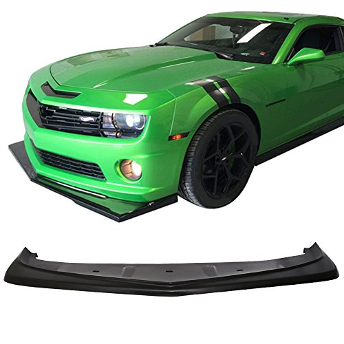 Front Bumper Lip Fits 2010-2013 Chevy Camaro V8 | Z28 Look Style Unpainted PU Air Dam Chin Protector Front Bumper Lip by IKON MOTORSPORTS | 2011 2012