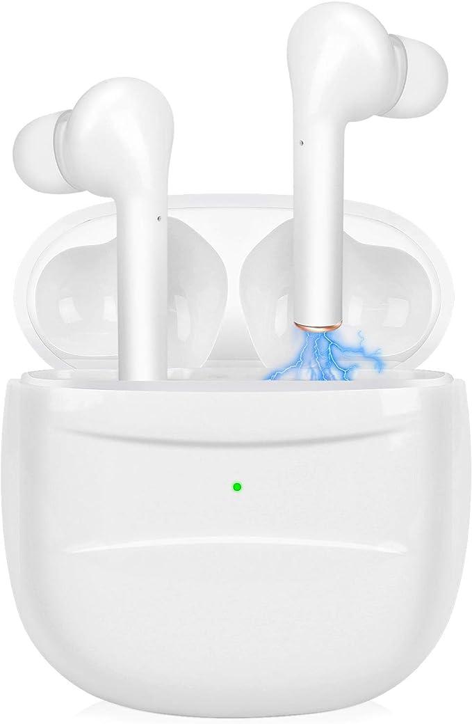 Bluetooth 5.0 Headset kabelloses Headset kabelloses eingebautes Mikrofon und Ladekiste,3D HD Stereo Rauschunterdr/ückung,wasserdicht,Automatisches Pairing,Sportkopfh/örer,Hightech