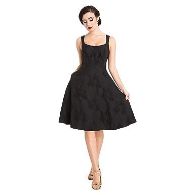 Voodoo Vixen Tiffany Flare Kleid (Schwarz): Amazon.de: Bekleidung