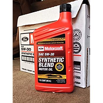 Motorcraft sae 5w30 synthetic blend motor oil for Motorcraft synthetic blend motor oil