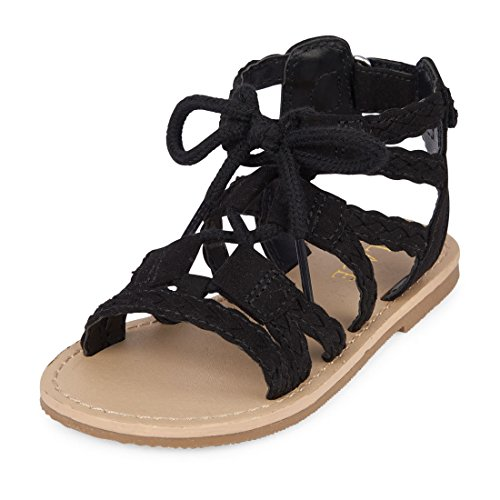 Product image of The Children's Place Girls' TG LACE Candy Sandal, Black, TDDLR 6 US Toddler