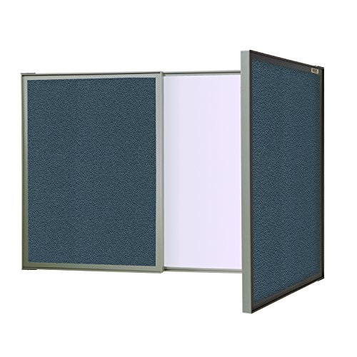 - Ghent VisuALL PC, Gray Fabric Bulletin Board Outside with Acrylate Whiteboard Inside (41302)