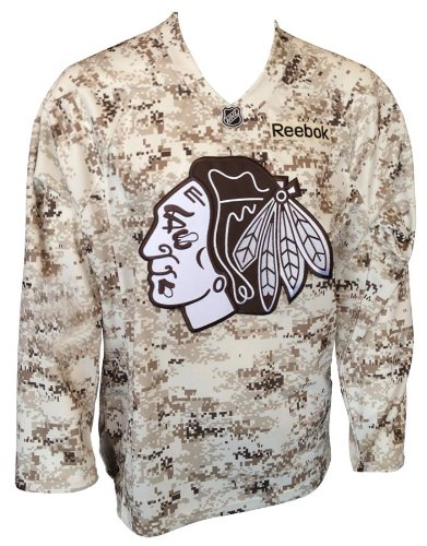 5ef0f7ac427 Image Unavailable. Image not available for. Color: Chicago Blackhawks  Camouflage Reebok Premier Jersey