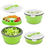 Smart Planet Eco Collapsible Salad Bowl, 65 oz, Green