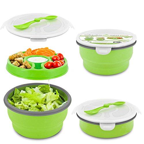 Smart Planet Eco Collapsible Salad Bowl, 64 oz, Green