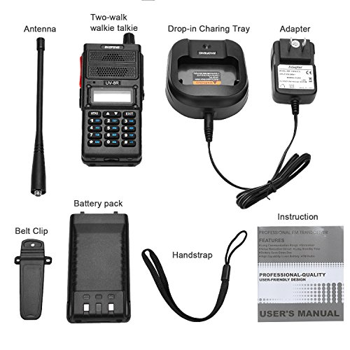 Two Way Radio, Baofeng UV-8R (Upgraded UV-5R) 8-Watt Ham Radio Transceiver Walkie Talkies Dual Band (136-174MHz VHF & 400-520MHz UHF), VOX Function with Earpiece, Extended Antenna & 2000mah Battery by BaoFeng (Image #6)