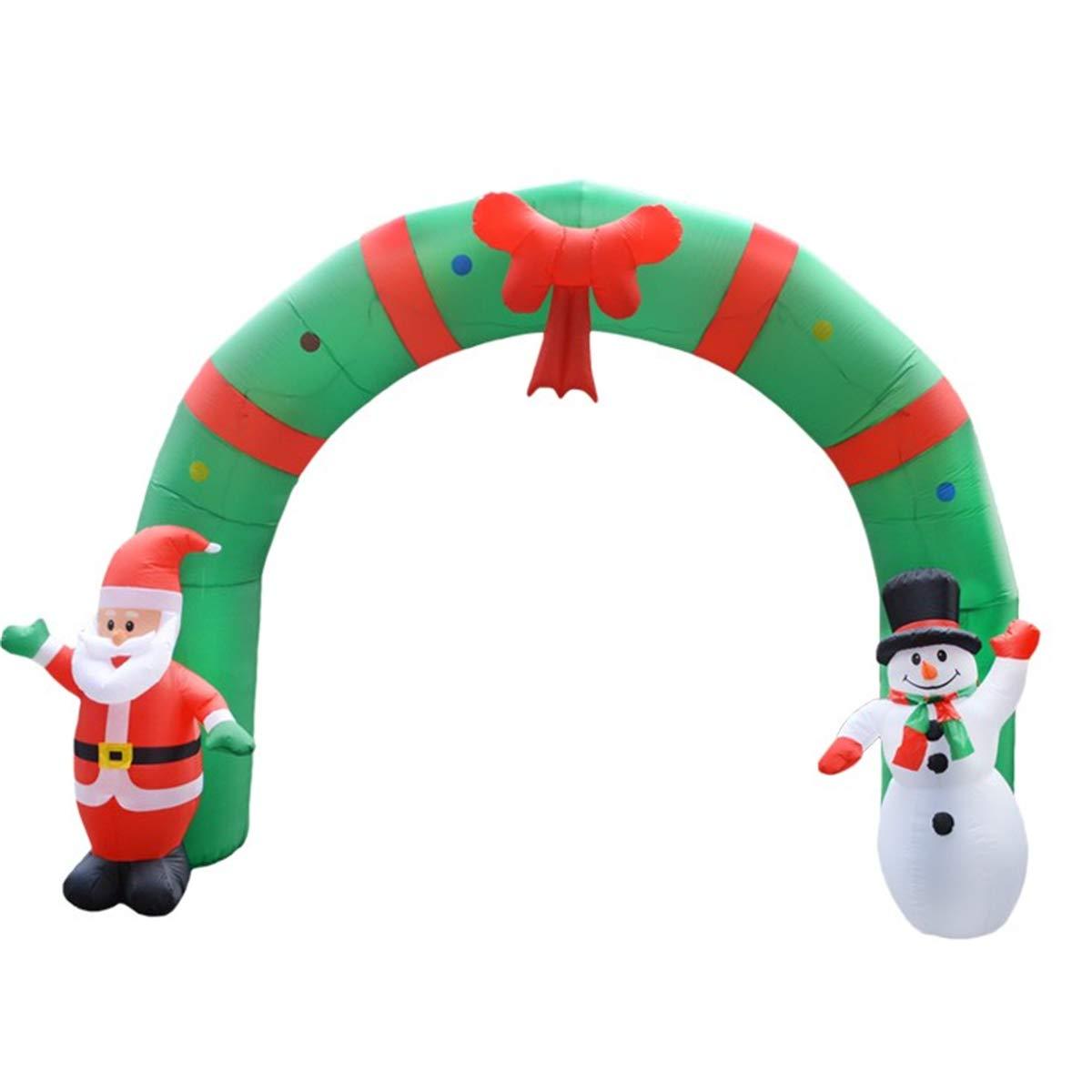 DUOLUO 250cmの巨大で膨脹可能なクリスマスのアーチArchwaySantaのスノーマン屋内屋外の装飾 B07Q147YXL