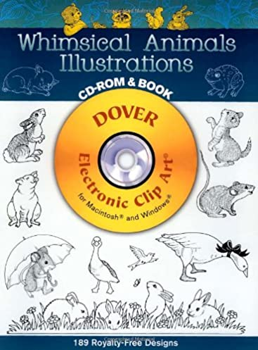 whimsical animals illustrations cd rom and book dover electronic rh amazon com dover clip art free dover clip art download