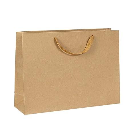 Surrui - Bolsas de Papel Kraft con Asas reciclables, Color ...