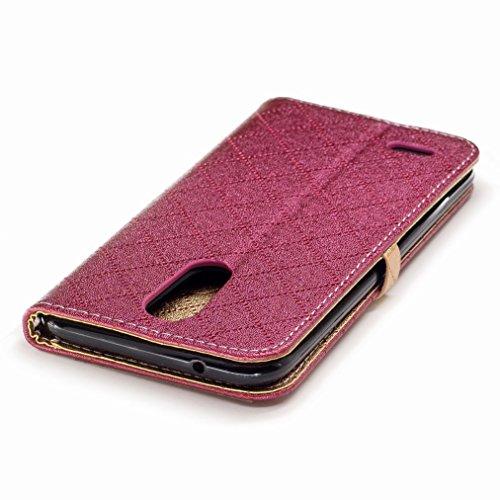 Yiizy LG K10 (2017) / X400 / M250N / K20 plus / LG Harmony Custodia Cover, Amare Design Sottile Flip Portafoglio PU Pelle Cuoio Copertura Shell Case Slot Schede Cavalletto Stile Libro Bumper Protettiv