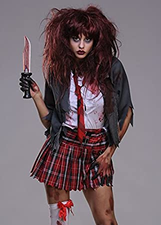 Disfraz de colegiala zombie XS (UK6 – 8): Amazon.es: Juguetes y juegos