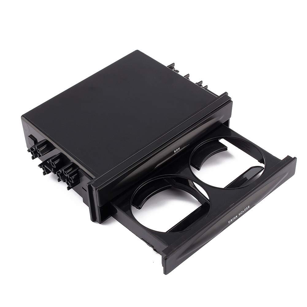 Caja de almacenamiento de pl/ástico coche doble portavasos con divisores
